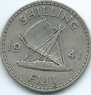 Fiji - George VI - 1941 - 1 Shilling - KM12 - Only 40,000 Minted - Fiji