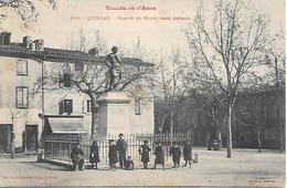 11    Quillan    Statue & Place Abbé Armand - France