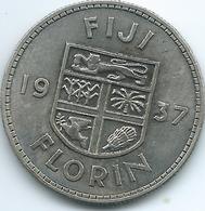 Fiji - George VI - 1937 - Florin - KM10 - Only 30,000 Minted - Fiji