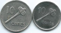 Fiji - 10 Cents - 1995 - KM52a & 2010 - KM120 - Fiji