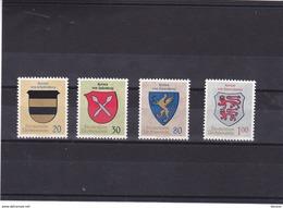LIECHTENSTEIN 1965 ARMOIRIES NOBLES II Yvert 399-402 NEUF** MNH - Liechtenstein