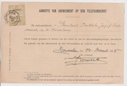 RTT Telefoon  Telefoondienst Aangifte Abonnement 1928 Met Speciale Takszegel Roeselare - Verzamelingen