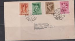 SCOUTS - HUNGARY -  1939 - GODOLLO JAMBOREE SET OF 4 ON FDC TO BROOKLYN, NEW YORK - Nuevos