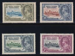 KENYA UGANDA TANGANYIKA  1935 SILVER JUBILEE   SG 124/127   MNH  CV £19 - Kenya, Uganda & Tanganyika