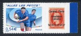 "TIMBRE** De 2007 Adhésif Personnalisé  ""0,54 € - Rugby - ALLEZ LES PETITS"" Provenant D'un Feuillet De 10 Timbres - Personnalisés"
