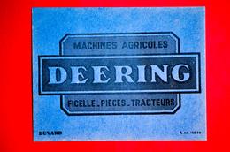 Petit Buvard Machines Agricoles DEERING, Ficelle, Pièces, Tracteurs - Altri