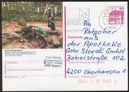 82713) BRD - P 138 - R9/129 - 4300 OO Gestempelt - 6149 Grasellenbach, Siegfriedbrunnen - Geïllustreerde Postkaarten - Gebruikt