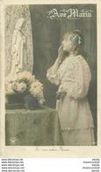 """WW Lot 5 Cpa FANTAISIES Religion """" AVE MARIA """" Série D'une Jeune Fille En Prière. Toutes Impeccables Et Vierges - Virgen Mary & Madonnas"""