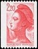 France N° 2379 ** Liberté De Gandon Le 2.20 Frs - Rouge - Timbre De Roulette - Unused Stamps