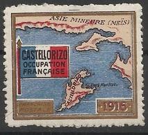 Castellorizo Vignette Erinnophilie Occupation Française WW1 1916 - Castellorizo (1920)
