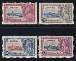 DOMINICA  1935 SILVER JUBILEE   SG 92/95   MLH  CV £20 - Dominica (...-1978)