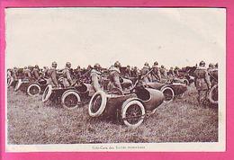 MOTO MILITARIA  SIDE CARS DES UNITES MOTORISEES - CAMP DE MOURMELON ?? - Militaria
