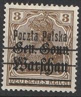 Pologne 1918-19 N° 5 MH Gouvernement Général Warschau  (G1) - ....-1919 Provisional Government