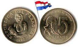Paraguay - 5 Guaranies 1992 (UNC) - Paraguay