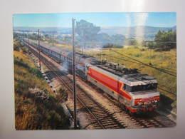 Carte Le TEE Mistral Remorqué Par Une Locomotive CC 6500 - Chemins De Fer