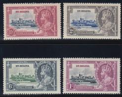 ST. HELENA   1935 SILVER JUBILEE   SG 124/127   MLH  CV £35 - Saint Helena Island