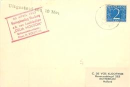 """Pays-Bas. Vol Par Ballon """"Delia Mouton""""   10/5/52 - Luchtpost"""