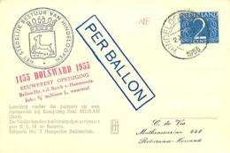 Pays-Bas. Vol Par Ballon  Hindeloopen  10/7/54 - Luchtpost