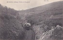 MONSOLS          VALLEE DE CHANJUINT  TRAIN EN GROS PLAN - France