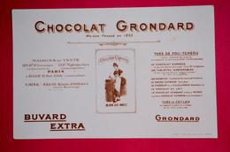 Buvard Chocolat GRONDARD - Chocolat