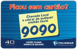 BRASIL L-759 Magnetic Telemar - Used - Brésil