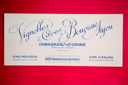 Buvard Vins Mousseux, Vignobles Et Caves De La Bougraie Anjou, Ingrandes-sur-Loire - Altri