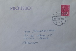 A337 - POSTE MARITIME - ✉️ - PAQUEBOT - RONNE (DANEMARK) 21.06.1973 > PARIS (FRANCE) - Maritieme Post