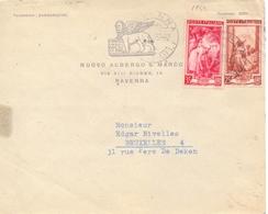 1952 Da Nuovo Albergo S.Marco Ravenna Per Bruxelles. - Sav - 6. 1946-.. Repubblica