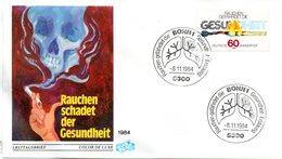 "BRD Schmuck-FDC ""Anti-Raucher-Kampagne"" Mi. 1232 ESSt 8.11.1984 BONN 1 - FDC: Covers"