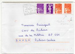 France N° 2619, 3088 Et 3101(taches D'encre) Y. Et T. Vienne Poitiers Couronneries Flamme Illustrée Du 10/10/2001 - 1961-....