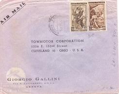 1953 Aereogramma Da Genova Per OHIO - USA Con 200 Lire Ital A Lav - Sav - 6. 1946-.. Repubblica