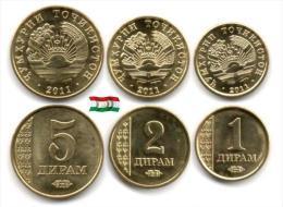 Tadjikistan - 1 - 2 & 5 Dirams 2011 (UNC) - Tadjikistan