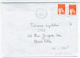 France 2 N° 3101 Type 2 Y. Et T. Vienne Poitiers Clos Gaultier GA Flamme Muette Du 10/10/2001 - 1961-....
