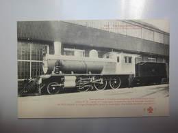 Carte Postale Locomotive à 6 Roues Accouplées Et Avant Train Bissel - Matériel