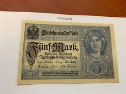 Germany 5 Mark Banknote 1917 #2 - [ 2] 1871-1918 : Impero Tedesco