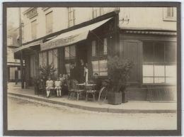 76     Forges Les Eaux  Photo Sur Support Cartonne Cafe De Dieppe - Forges Les Eaux