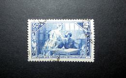 FRANCE 1935 N°307 OBL. (POUR LES CHÔMEURS INTELLECTUELS. LA MANSARDE. 50C + 10C BLEU) - Oblitérés