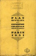 St Mandé Paris Bois De Vincennes Plan Officiel Exposition Coloniale 1931 50x40cm - Cartes Géographiques