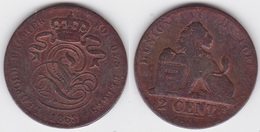 LOT 026  LEOPOLD Ier   2 CENTIMES CUIVRE 1863 - 1831-1865: Leopold I