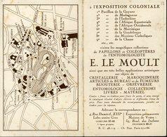 Paris Bois De Vincennes Plan Exposition Coloniale 1931 Métro Le Moult Paris XIIIe 12x 15cm - Geographical Maps