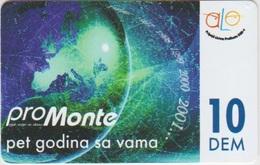 MONTENEGRO - ALO - 10 DEM - PREPAID - Montenegro