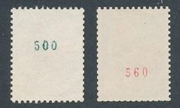 N-781: FRANCE: Lot Timbres De Roulettes N°1331c Obl (n° Vert)-1331Ab** (2ème Choix De Gomme) - France