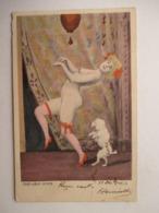 CAKE-WALK  INTIME  -  FEMME  NUE  ET  CHIEN           TRACE  DE  PLI - 1900-1949