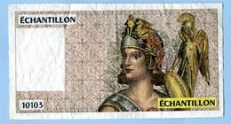 10103 TÊTE DE ATHÉNA ÉCHANTILLON POUR LE 100 FRANCS DELACROIX - Specimen