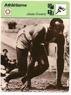 Fiche Athlétisme Jesse OWENS Editions Rencontre 1976 Format 16 X 12 Cm - Sports