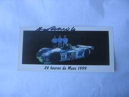 Autographe - Automobile - Henri Pescarolo - Car Racing - F1