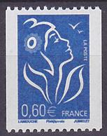 Timbre Neuf ** N° 3973(Yvert) France 2006 - Marianne De Lamouche Philaposte Roulette, N° Noir à Gauche - 2004-08 Maríanne De Lamouche