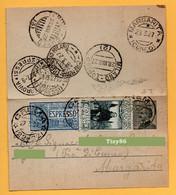 Biglietto Postale Da Crema Per Torino - Espresso 1927 - Poststempel