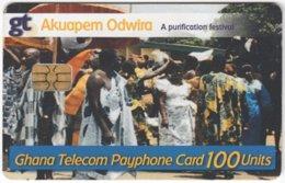GHANA A-145 Chip Telecom - People, Streetlife - Used - Ghana