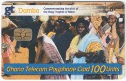 GHANA A-149 Chip Telecom - People, Streetlife - Used - Ghana